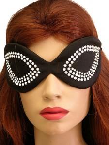 Rhinestone Silk Eye Mask LC03284 225x300 What do you think of Halloween masks?