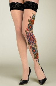 Blooming Flowers Tattoo Stockings are cheapest and newest  195x300 Blooming Flowers Tattoo Stockings are cheapest and newest