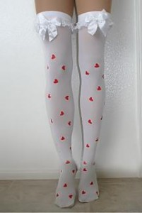 Opaque Heart Stockings are sexy in summer 201x300 Opaque Heart Stockings are sexy in summer